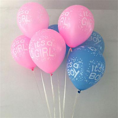 "12/"" Its a Boy Baby Girl Latex Balloons Gender Reveal Baloons Pink Blue BALONS"