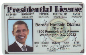 Ebay License Card United Of Obama Collectors Barack Drivers The President States