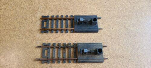 set of 2 Atlas HO Brass Track Bumpers