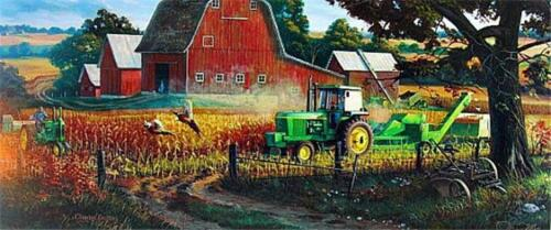 """Charles Freitag Bountiful Harvest Signed and Numbered Print 32/"""" x 16/"""""""