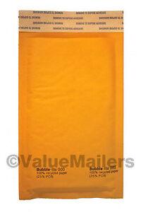 Yens® 25 #000 Kraft Bubble Padded Envelopes Mailers 4 X 8  25KF000