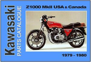 Details about KAWASAKI Parts Manual KZ1000 Z1000 USA MKII 1979 & 1980  Replacement Spares List