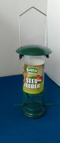 Supa Hanging Flip Top autoportante Wild Bird Seed 2 port METAL Feeder 20 cm