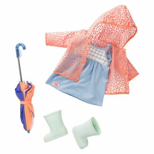 Brighten Up a Rainy Day Deluxe Outfit 18/'/' Our Generation