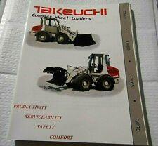 Factory Takeuchi Compact Wheel Loaders Tw50 60 65 70 Dealership Spec Brochure