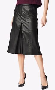 NWT-7-FOR-ALL-MANKIND-Sz26-WOMEN-LAMB-LEATHER-CULOTTE-BLACK-650-00