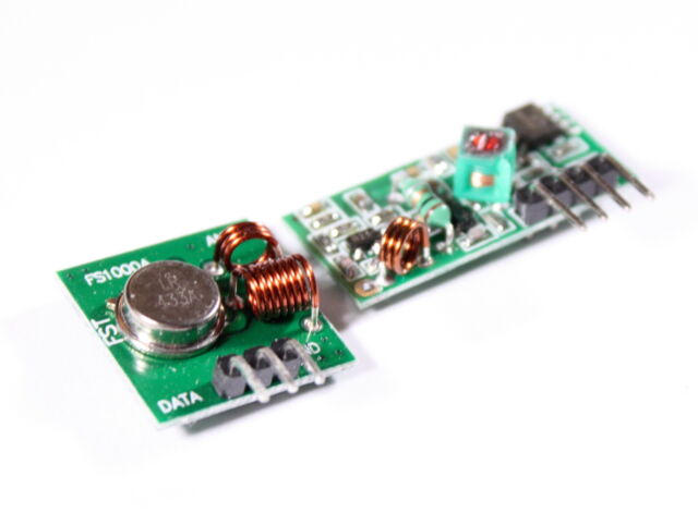 433 Mhz Sender Empfänger RF Funk Modul FS1000A xy-mk-5v Arduino Raspberry Pi