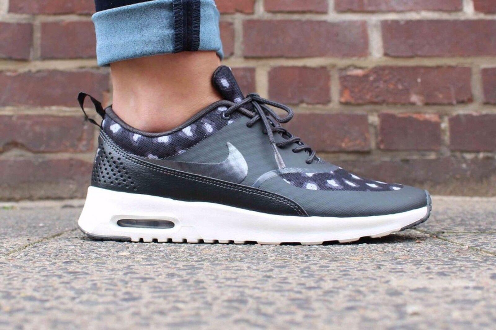 Nike Nike Nike Air Max Thea Print  Wmn Sz 11 599408-008 Black Dark Grey Anthracite Wolf Gr 2a34c8