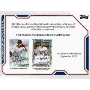 2021 Bowman Chrome Baseball HTA Choice Hobby Box NEW Lot of 5 Sealed