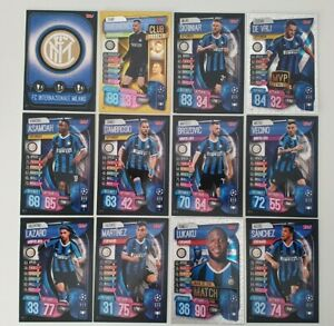 2019-20-Match-Attax-UEFA-Soccer-Cards-Inter-Milan-Team-Set-incl-3-shiny