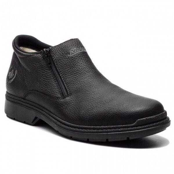 acquista marca Rieker B0792-00 da Uomo in in in Pelle Casual Comode E CERNIERA scarpe da ginnastica basse Stivaletti Nero  prezzi eccellenti