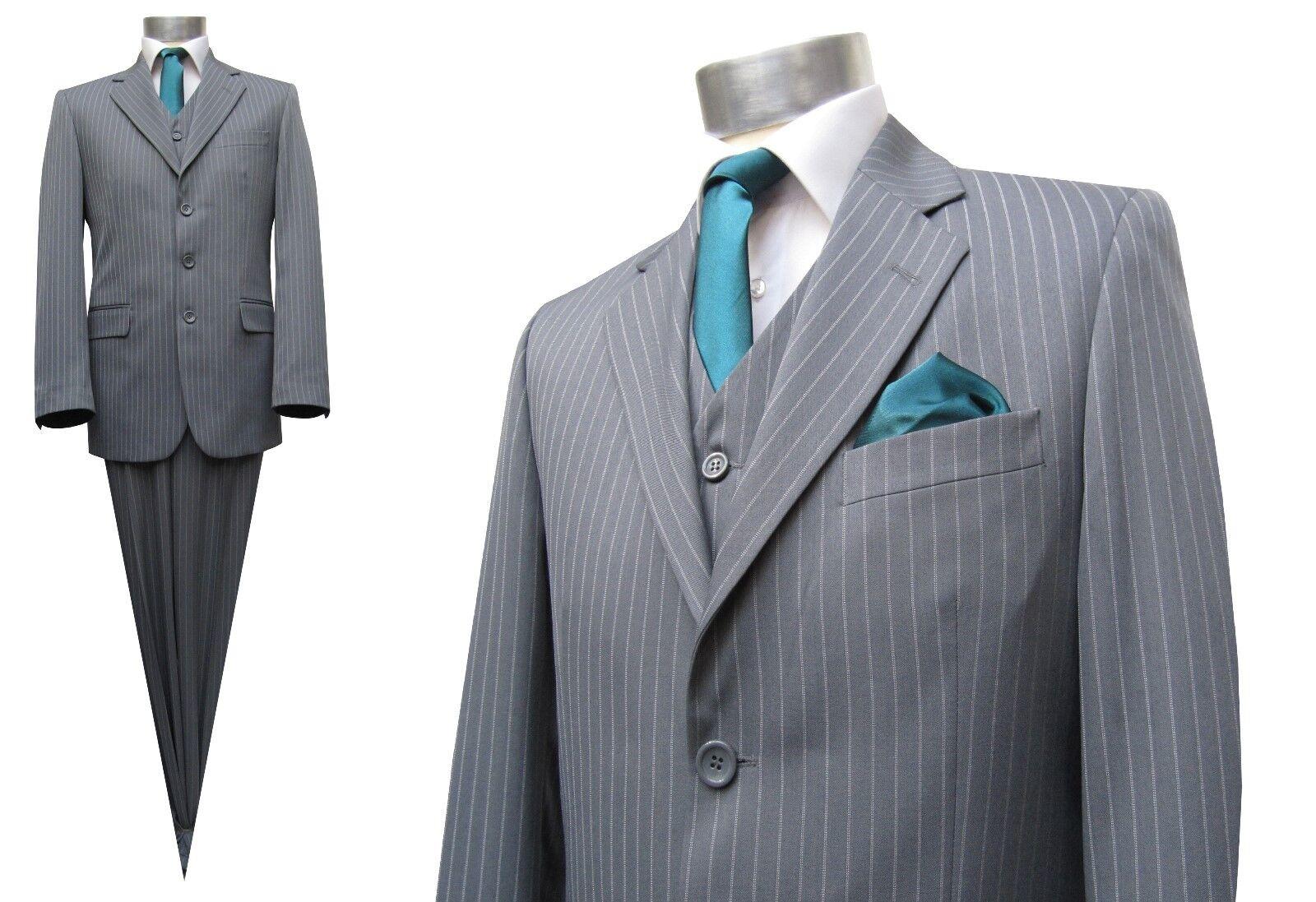 Nadelstreifen Anzug Muga Gr.122 Grau  | Hat einen langen Ruf  | Sehr gute Farbe  | Ich kann es nicht ablegen