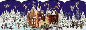 Navidad en el Castillo Linterna Alemán Calendario de Adviento - 24 puertas 30 X 21 Cm  </span>