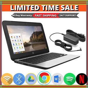 HP-Chromebook-11-G4-Laptop-Intel-2-16GHz-4GB-Memory-16GB-SSD-Bluetooth-Wifi-HDMI
