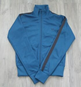 1ae20b53 Womens Fred Perry Track Top Sports Jacket Blue Retro Summer Vintage ...