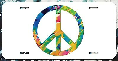 Peace Sign And Symbols Novelty Vanity License Plate Tag Sign