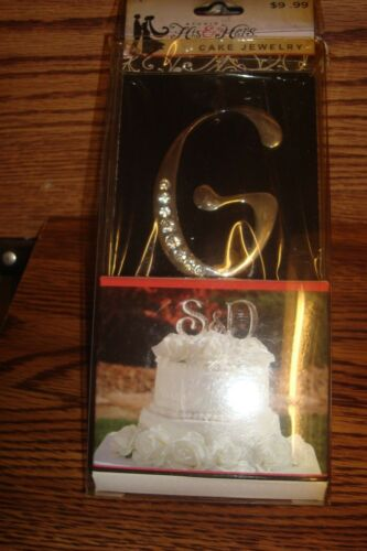 Rhinestone Cake Topper WEDDING CAKE* G Monogram Letter Wedding Cake Jewelry