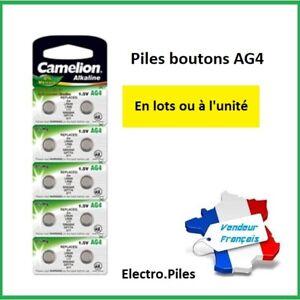 Piles-boutons-AG-4-LR66-LR626-377-Camelion-Expedition-rapide-et-gratuite