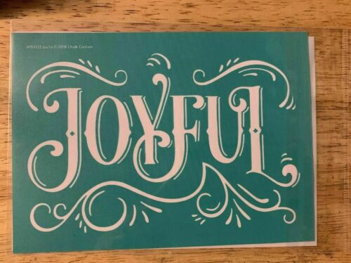 Chalk Couture Transfer JOYFUL NIP Great  For Christmas Or Holidays