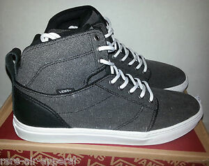 68753050bd VANS OTW ALOMAR BIO-WASH CANVAS WHITE BLACK SKATEBOARD HIGH HI TOP ...