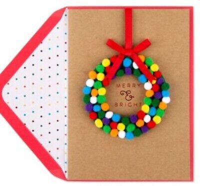 NIP Papyrus 3 Hanging Honeycomb Ornament Holiday Card Seal Polar Bear Penguin