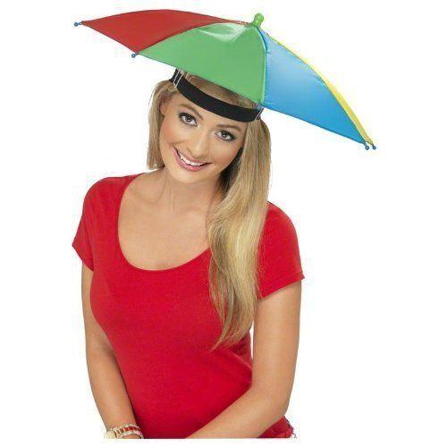 Men/'s Multi Couleur Fold-Able Parapluie Fantaisie Chapeau Festival Glastonbury Stag Fun