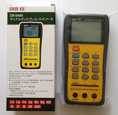 DER EE DE-5000 High Accuracy Handheld LCR Meter with TL-21 TL-22 New Japan