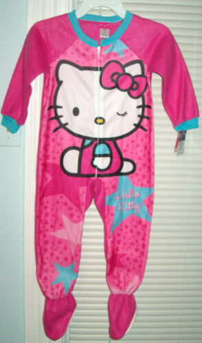 NWT Hello Kitty Footed Blanket Sleeper Pajamas Size 4  Too Cute !!