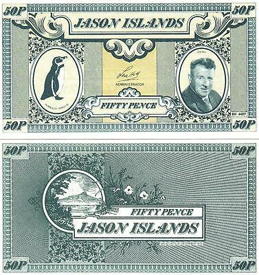 SET OF 5 PCS JASON ISLANDS COMPLETE UNC 0,50 1 5 10 20 Pound 1979