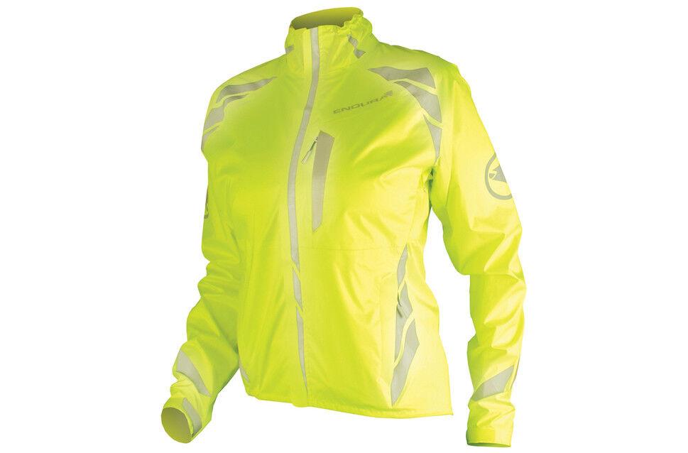 Endura Mujer Chaqueta de ciclismo Luminite II Grandes Hi Viz Amarillo Nuevo
