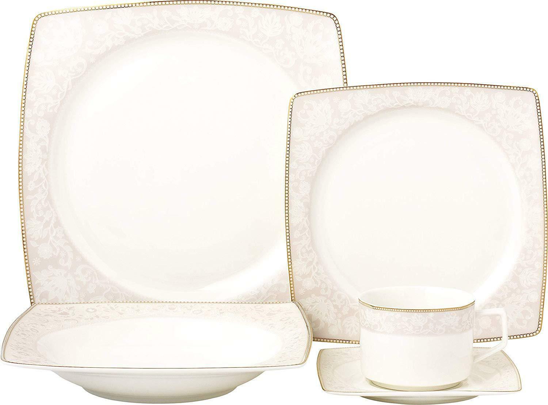 Royalty Porcelain fantaisie design carré 5-pc Place Setting 'rose Blossom
