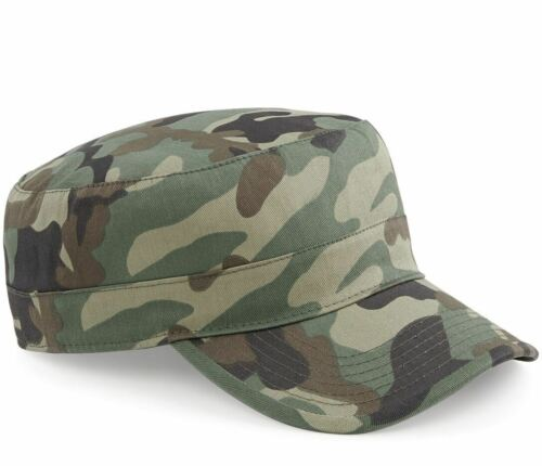 Beechfield Camouflage Field Camo Jungle Urban Army Cap Hat BC33 Military Cotton