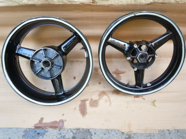 YAMAHA YZF R1 YZFR1 1000 FRONT & REAR RIM RIMS WHEEL WHEELS SET DAMAGE 02-03