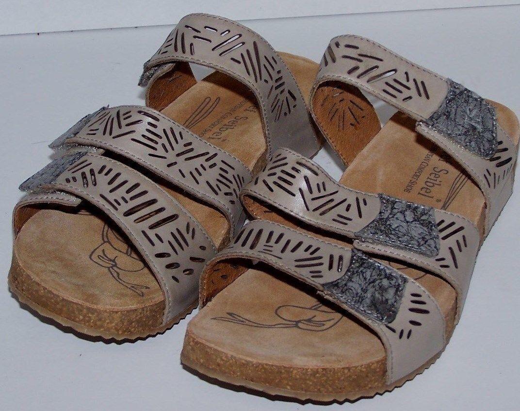 Mujeres Zapatos Zapatos Zapatos Josef Seibel Mulas talla EU 40 nos 9.5 gris Cuero Nuevo  últimos estilos