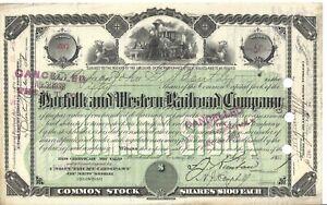 1880/'s Norfolk /& Western Railroad Company Stock Certificate