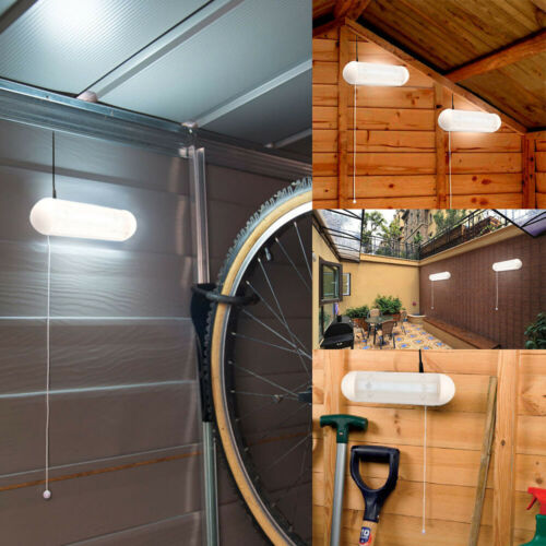 2 x 10 LED Solar Powered Shed Wall Light Garage Stable Recargeable Yard Garden