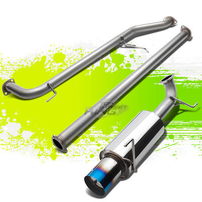 "ACCORD CG F23 2.3L STAINLESS STEEL CATBACK EXHAUST 4/"" MUFFLER BURN TIP+SILENCER"