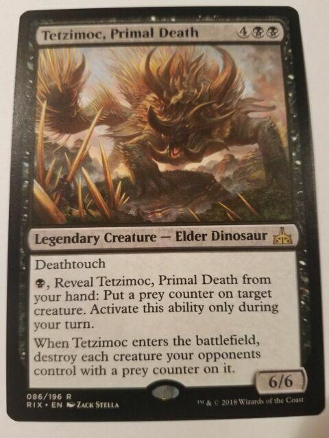 Tetzimoc Primal Death x4 4x Magic the Gathering Rivals of Ixalan MTG