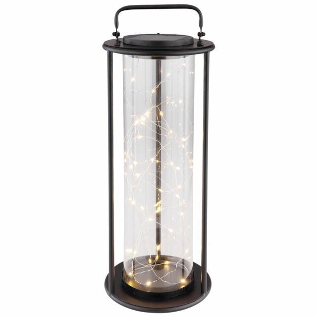 LED Solar Laterne Außen Steh Leuchte Hänge Lampe Deko Garten Haus Weg Camping