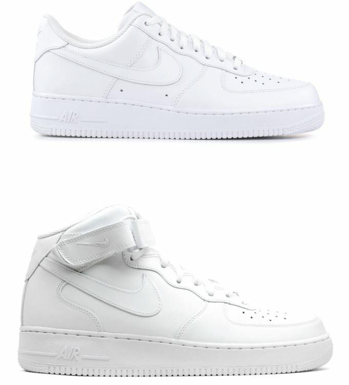 shoes NIKE men BIANCHE AIR FORCE 1 '07 BASSE ALTE SNEAKERS CLASSICHE MODA 2019