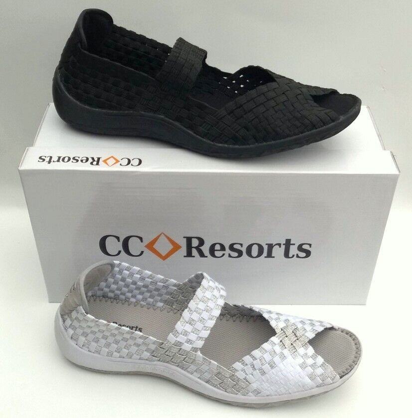 CC Resorts chaussures cloud comfort elastic open toe walking chaussures Solar