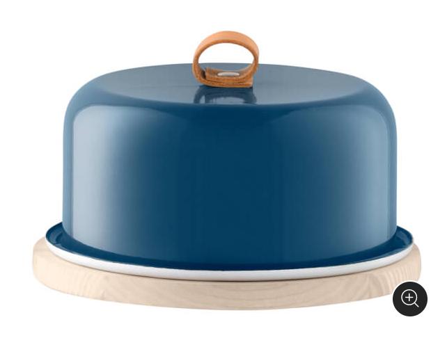 NEW LSA UTILITY CHEESE DOME FRESHNESS WITH ASH BASE 20cm JUNIPER bleu TABLEWARE