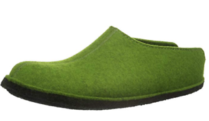 HAFLINGER Flair SMILY  clogs GREEN  US 12 MENS wool scuffs Slippers