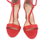 thumbnail 7 - Womens Ladies Red Faux Suede High Heel Party Sandals Shoes Size UK 4 5 6 7 8 New