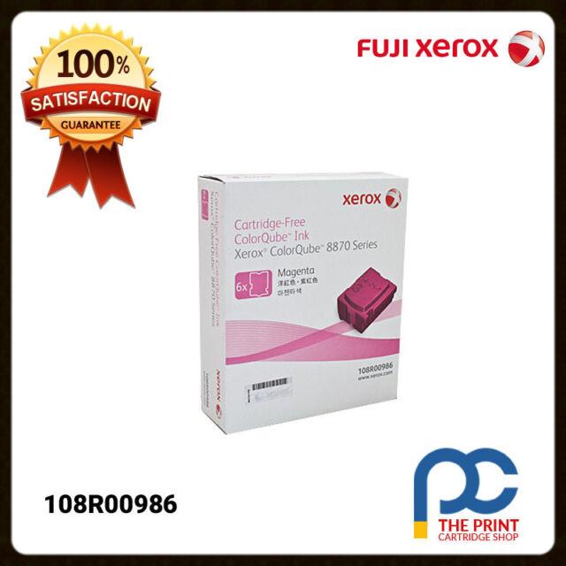 New & Original Fuji Xerox Pack of 6 108R00986 Magenta Ink Sticks ColorQube 8870