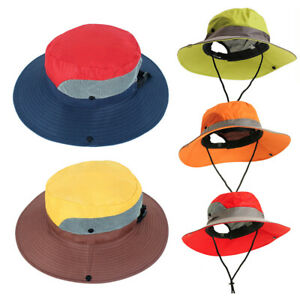 c1f426a6ce3 US Unisex Fashion Bucket Hat Fisherman Cap Visor Sun Hat Mens Women ...
