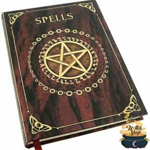 Red-SPELLS-BLANK-Diary-JOURNAL-5-034-x7-034-Wicca-Pagan-Witch-Book-of-Shadows