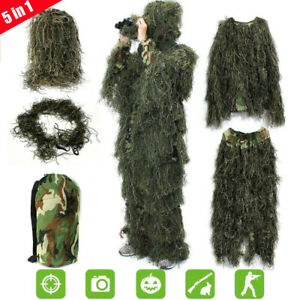 5PCS-3D-Camouflage-For-Kids-Woodland-Jungle-Forest-Hunting-Ghillie-Suit-Gift-NEW