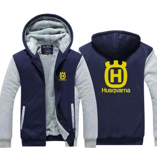 Hot!Husqvarna Schwifty HOODIE Winter Zipper Coat Jacket Sweatshirts ZIP UP Coat
