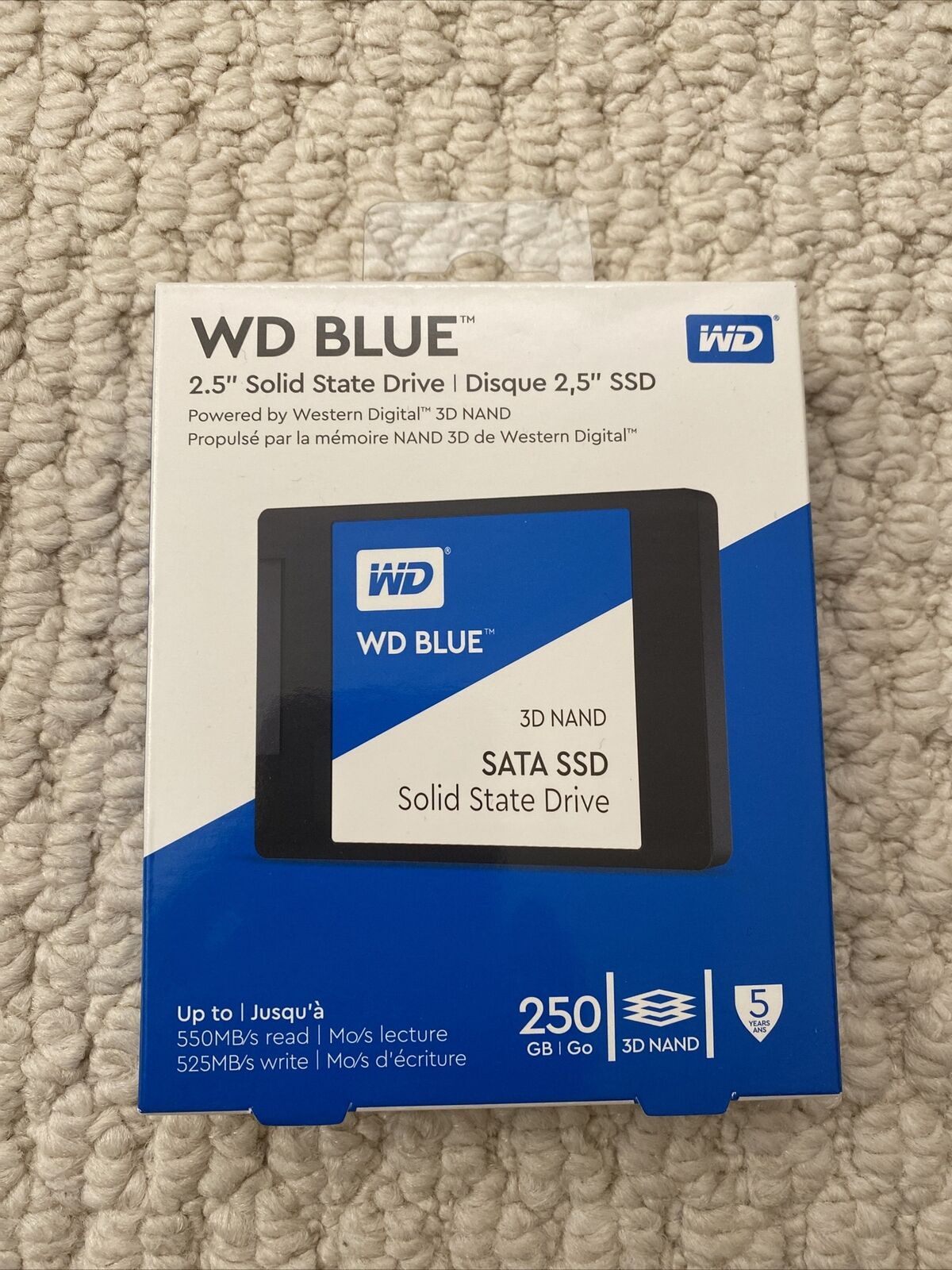 WD - Blue 250GB Internal SATA Solid State Drive 3D NAND. Buy it now for 39.99